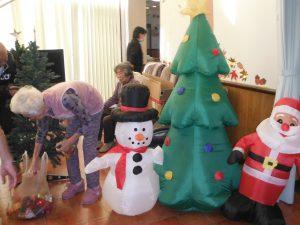 クリスマスの飾り付け♪
