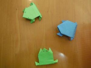 蛙を作りました!